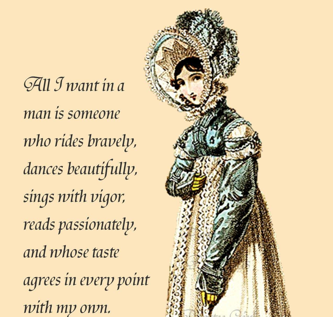 I Want Love Quotes: Jane Austen Wallpapers