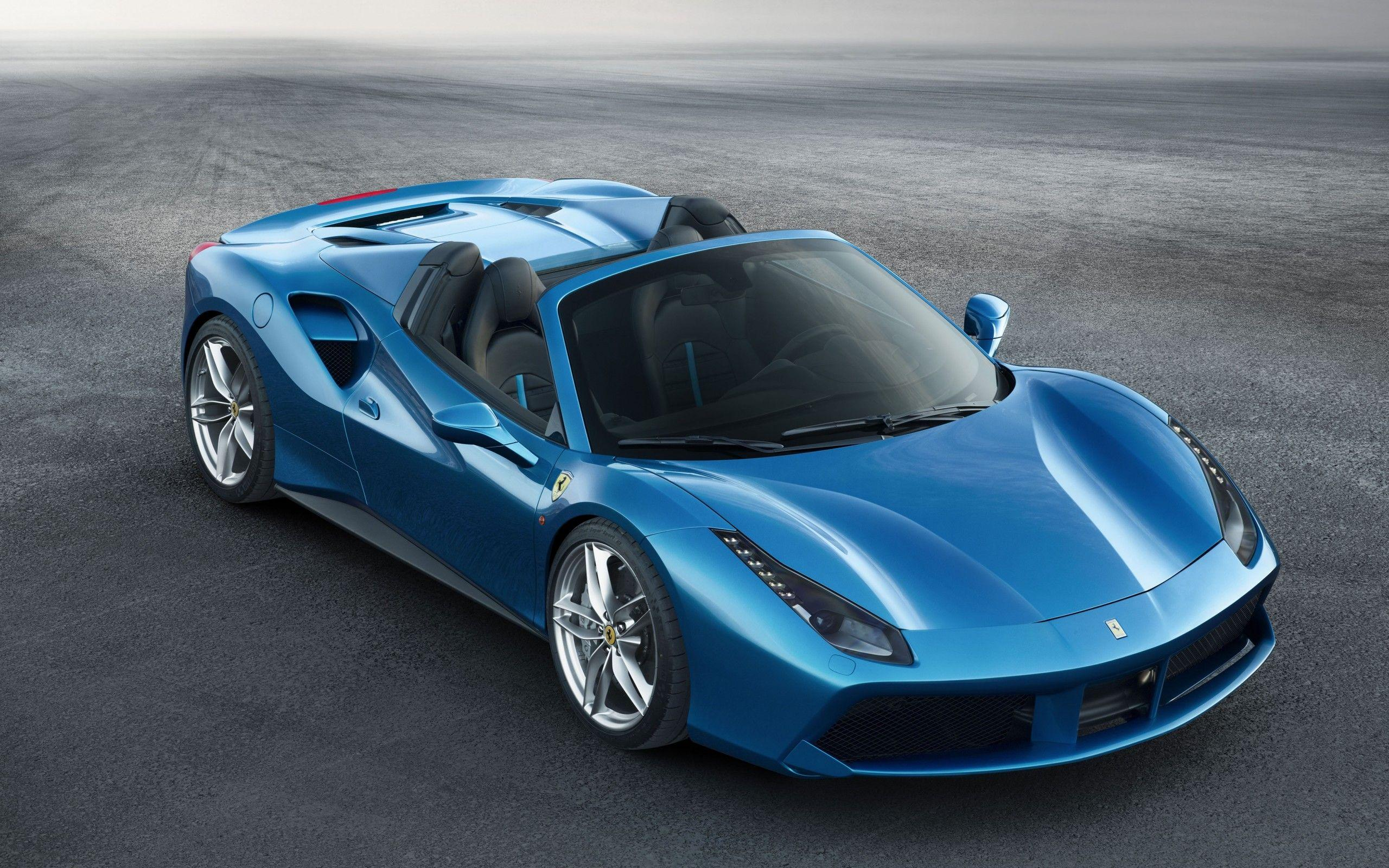 Download 2560x1600 Ferrari 488 Spider, Blue, Supercar, Cars