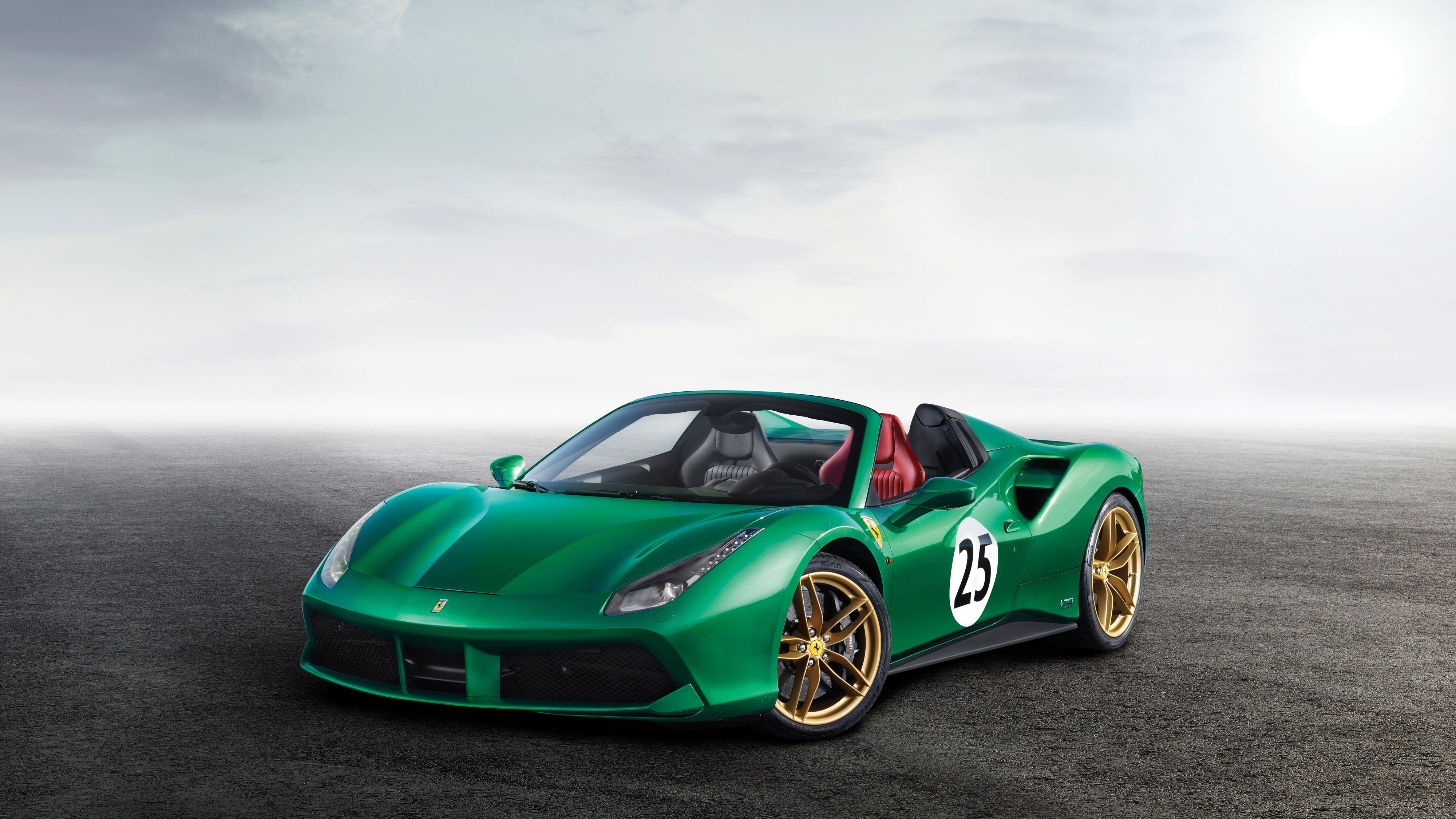 2017 Ferrari 488 Spider The Green Jewel 4K Wallpapers