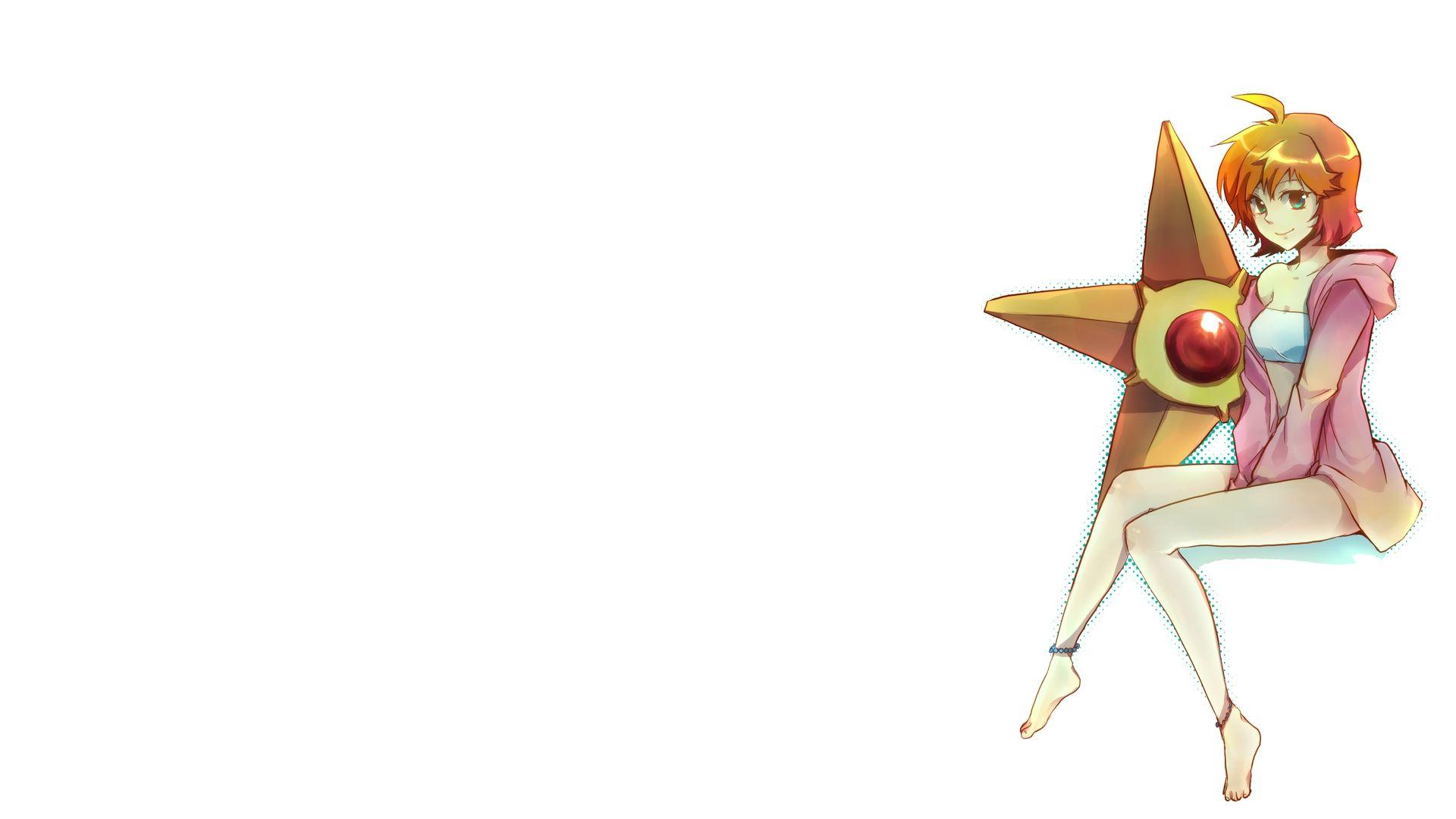 pokemon misty pokemon simple background white background staryu ...