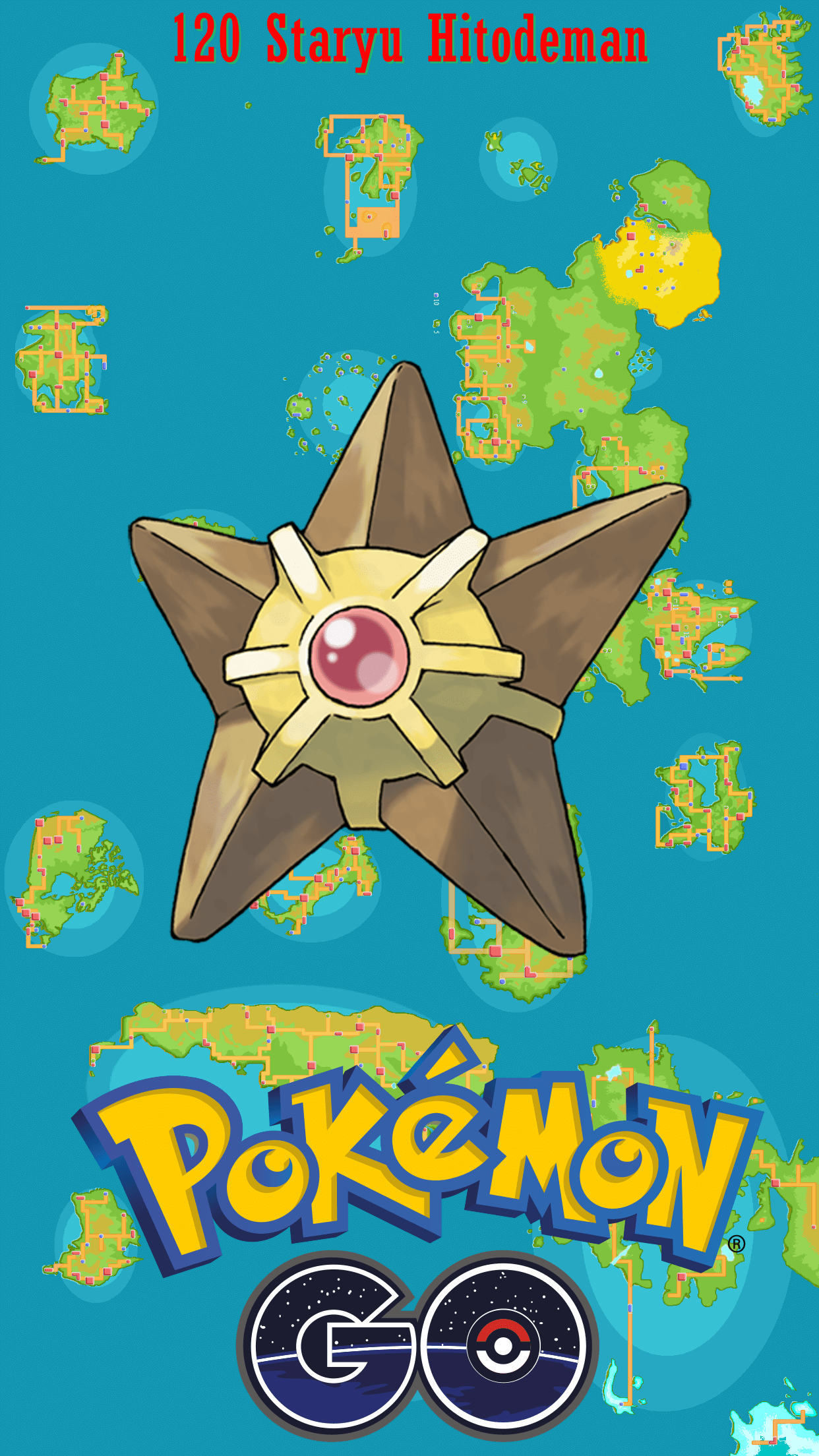 120 Street Map Staryu Hitodeman | Wallpaper