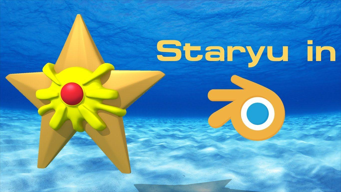 Staryu (Pokemon) - Blender Speed Modeling - YouTube