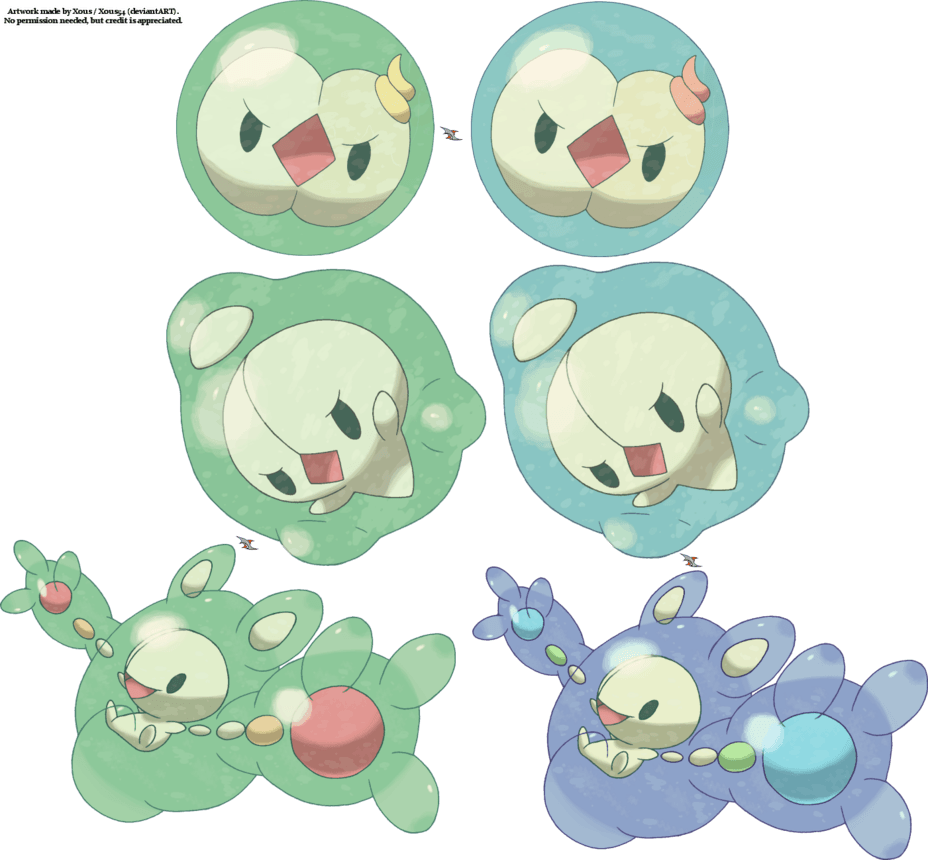 Solosis Duosion Reuniclus by Xous54 on DeviantArt