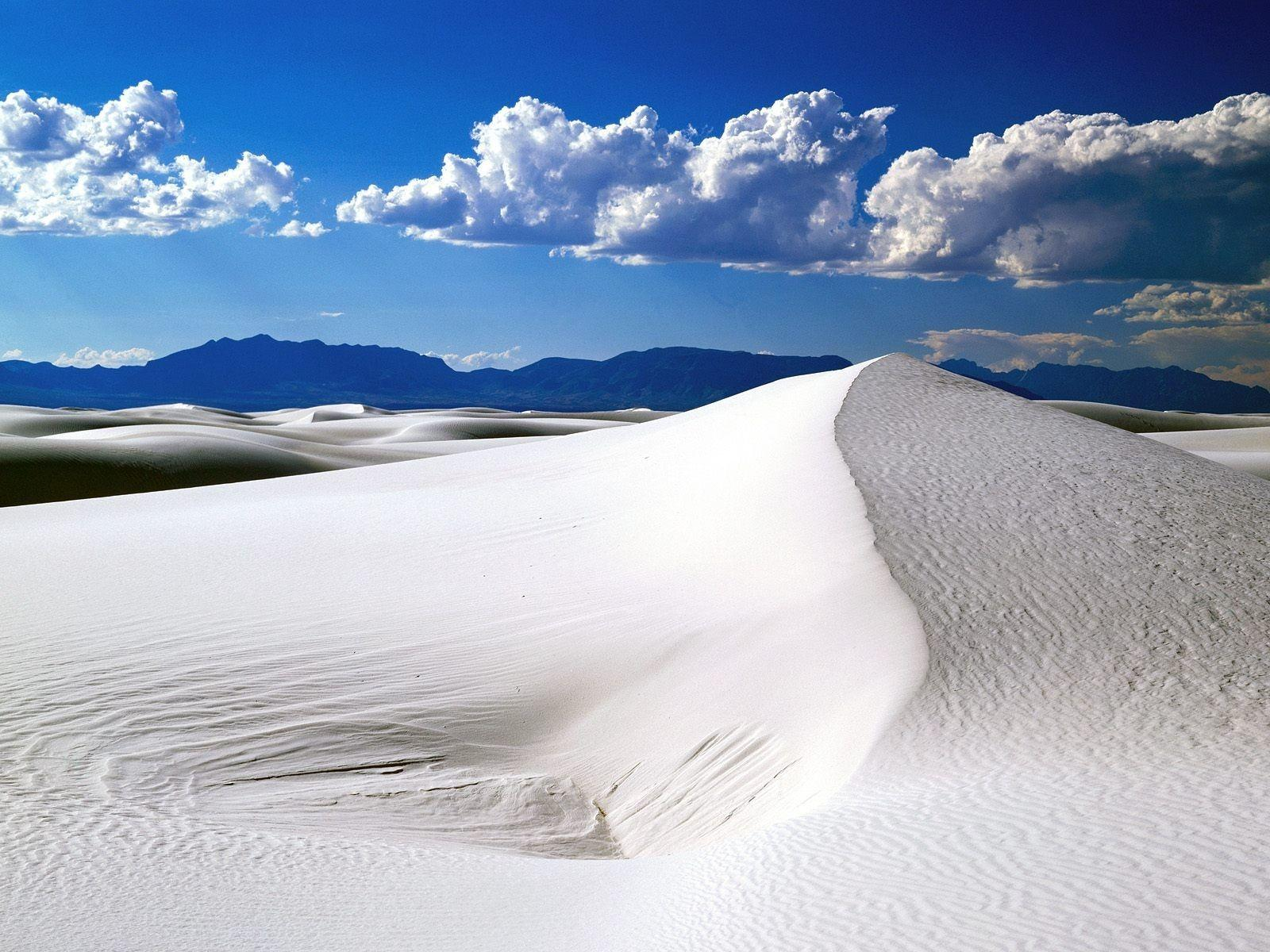 Beach White Sands National Monument New Mexico Landscape Nature