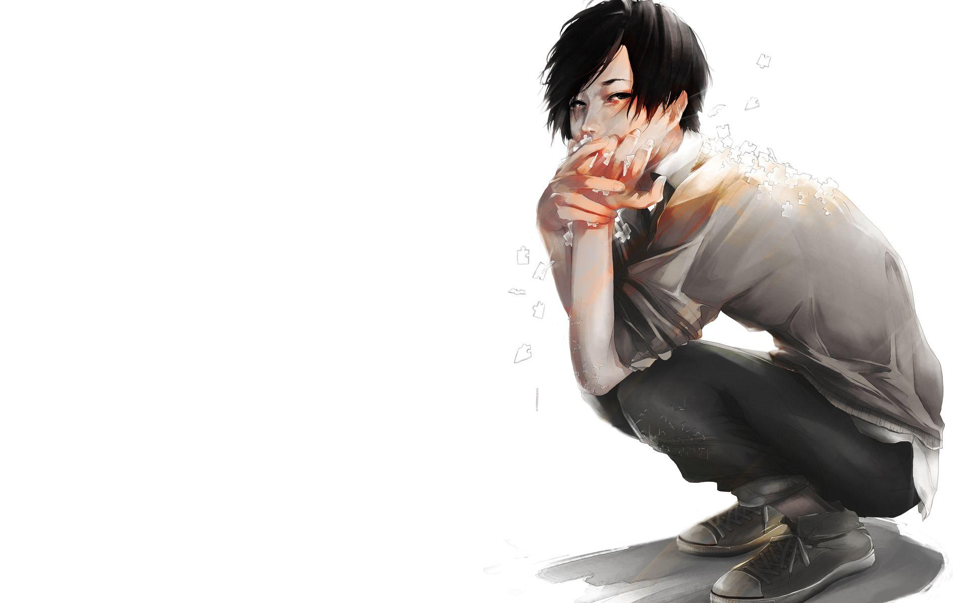 Anime Boy Sitting wallpapers