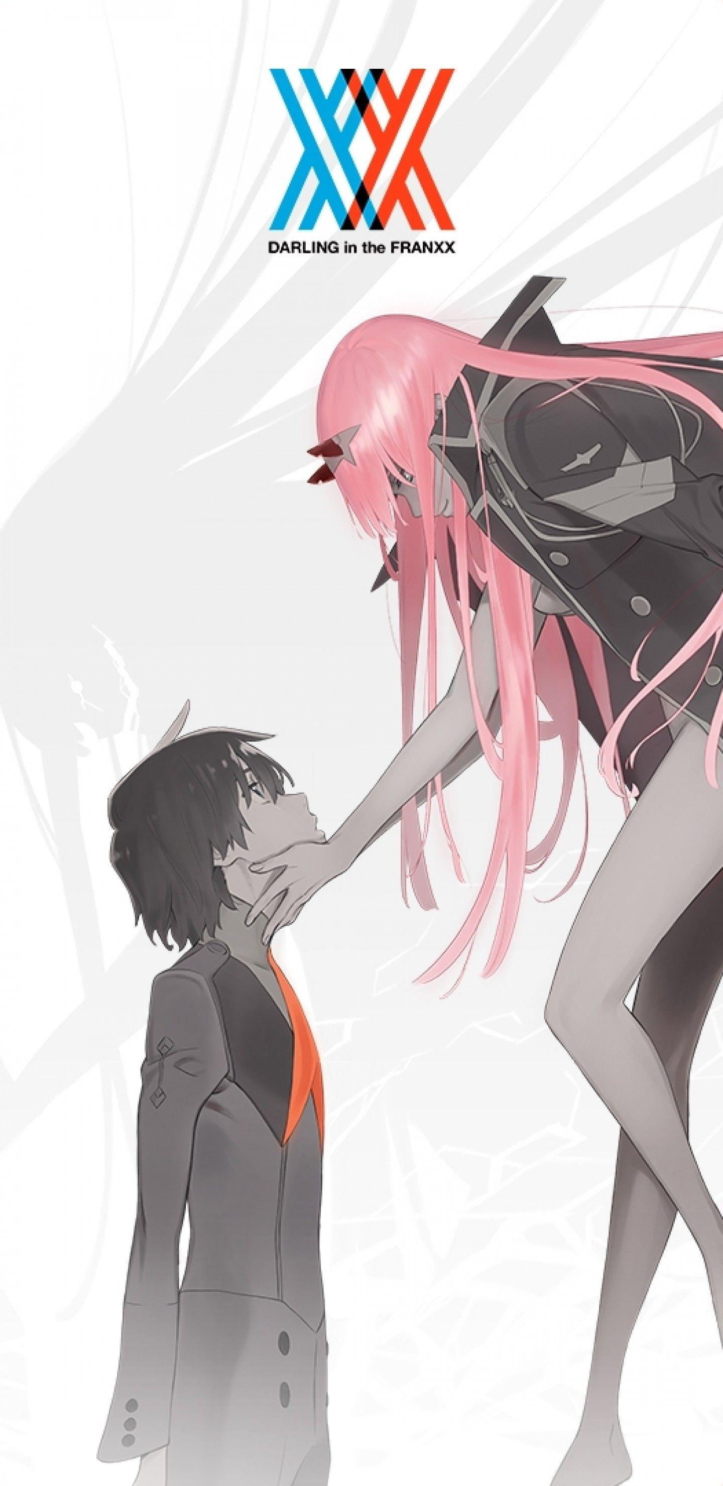 Download 1440x2960 Darling In The Franxx, Zero Two, Hiro, Pink