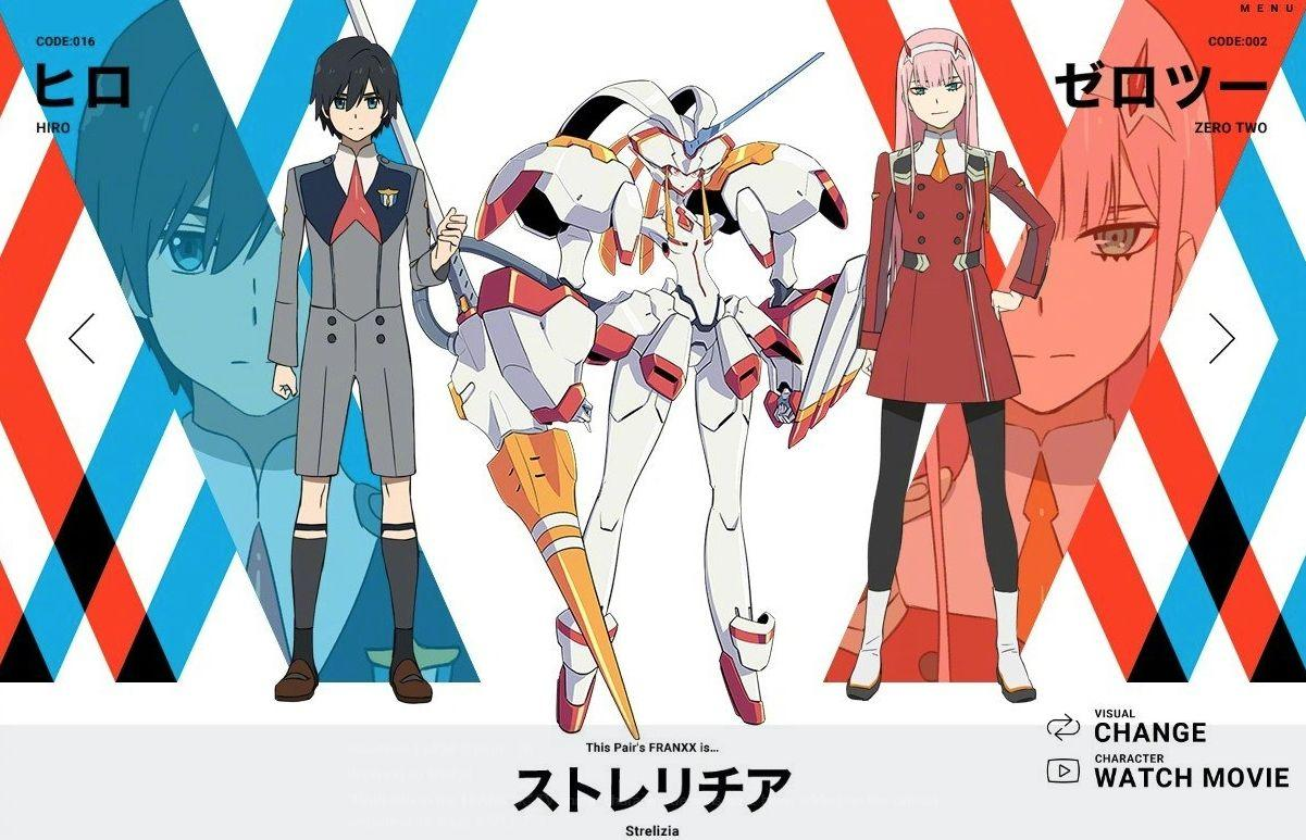 All Character Designs for Trigger and A1 Pictures Anime Darling