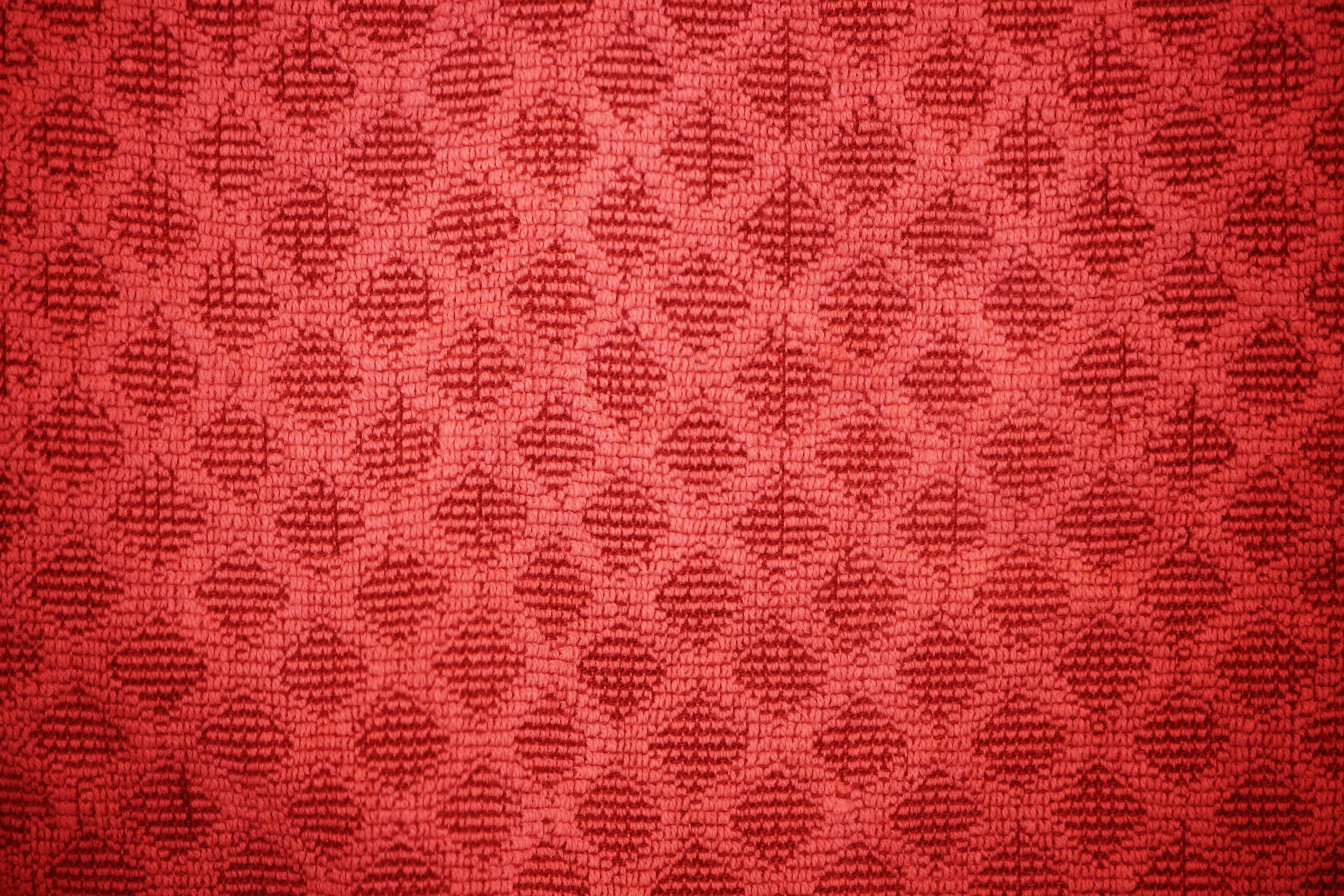 Red Dish Towel with Diamond Pattern Texture Picture
