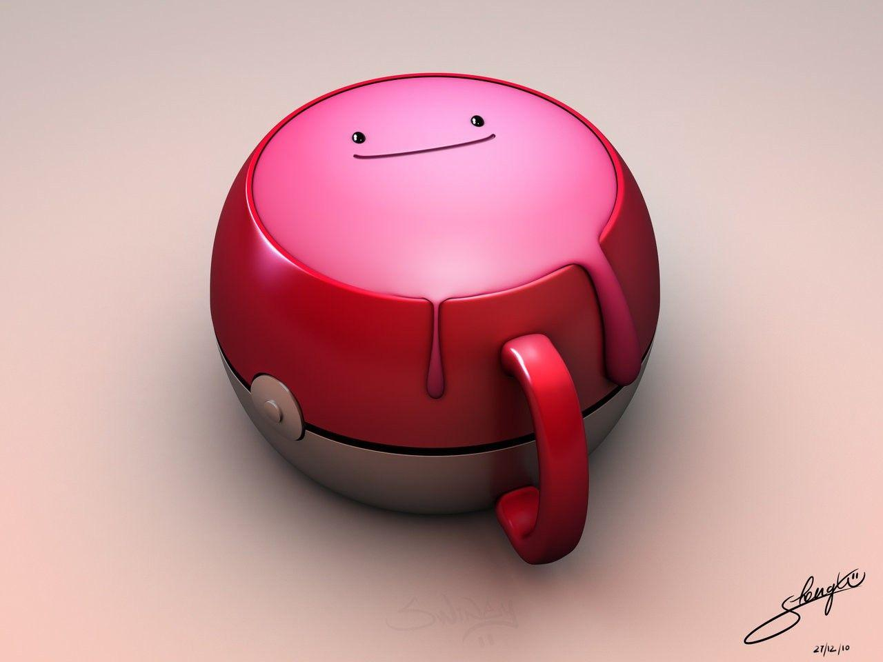 Wallpapers : ditto, cup, pokemon, 3D, cartoon 1280x960