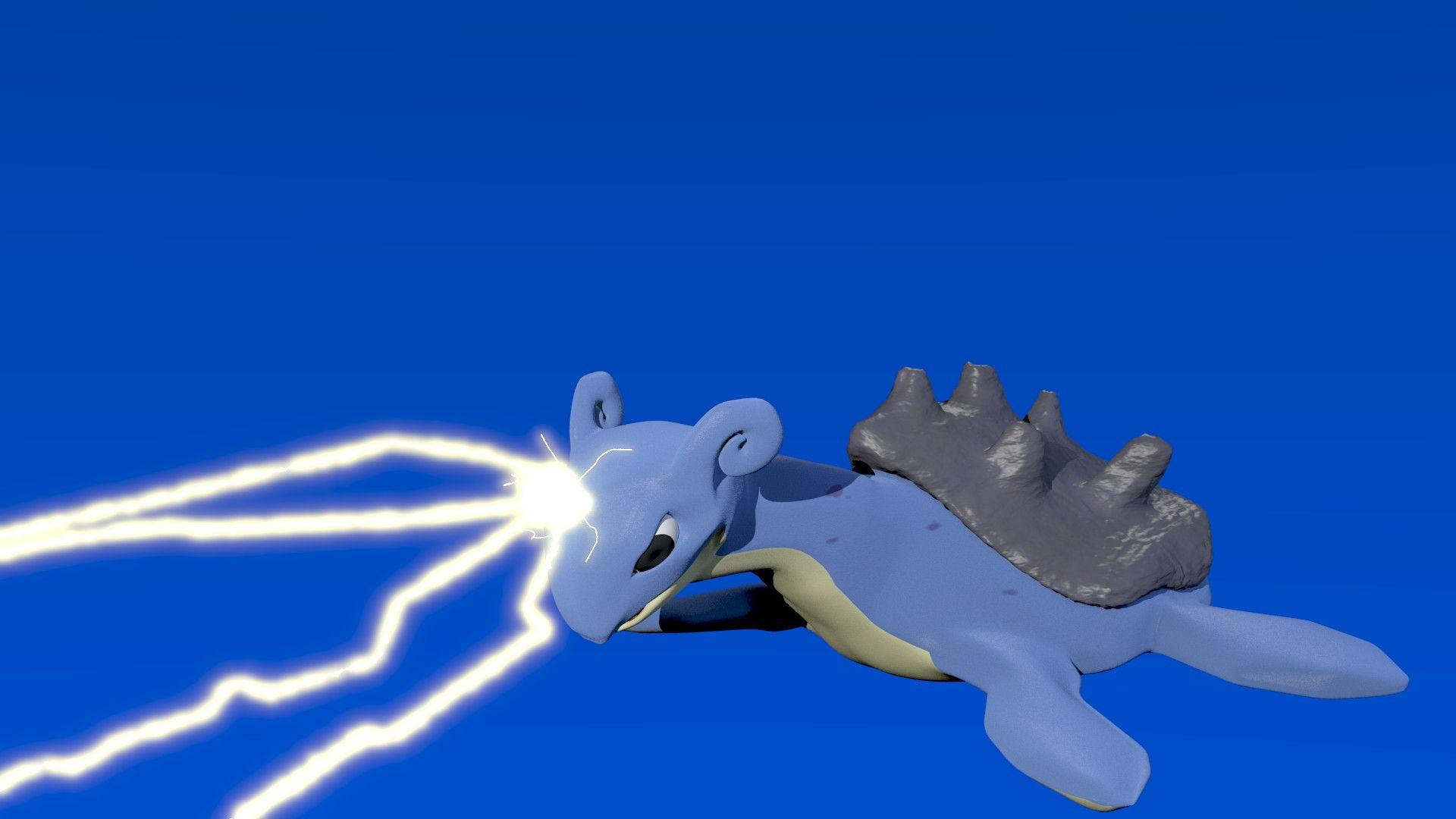 Lapras Used Thunderbolt by alewism