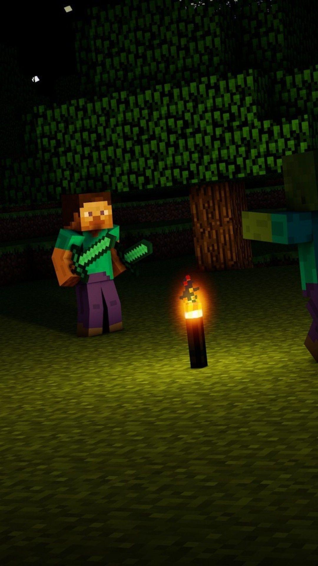 Minecraft steve wallpapers wallpaper cave - Creeper iphone background ...