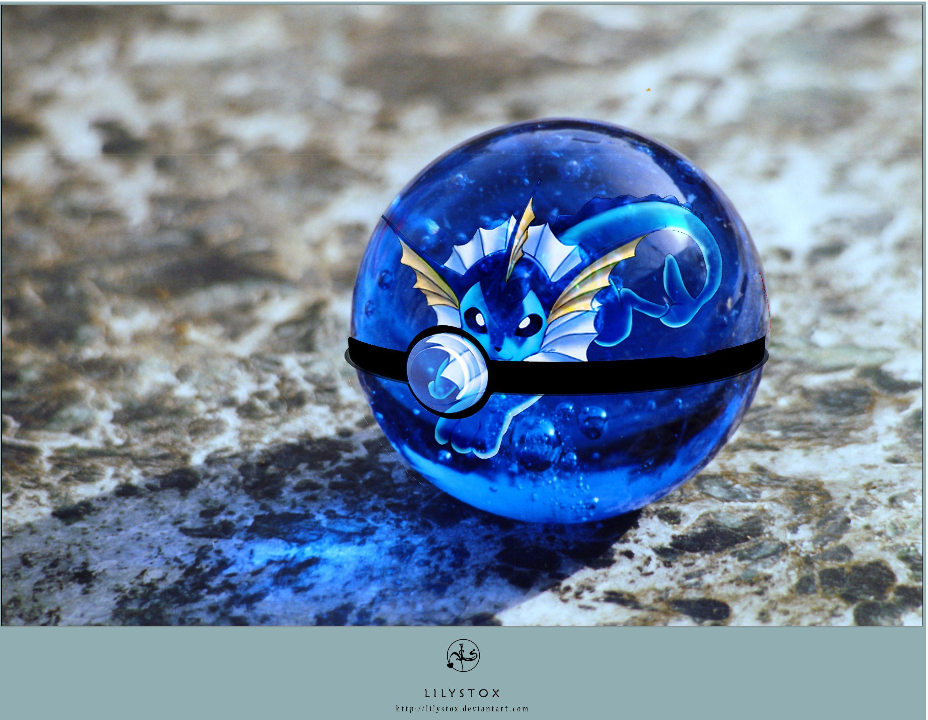Vaporeon's Pokeball by CronixMelody.deviantart.com on @DeviantArt ...