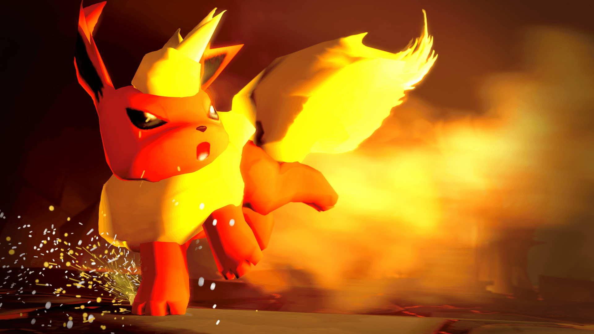 Flareon in a Battle [Source Filmmaker Poster] : pokemon