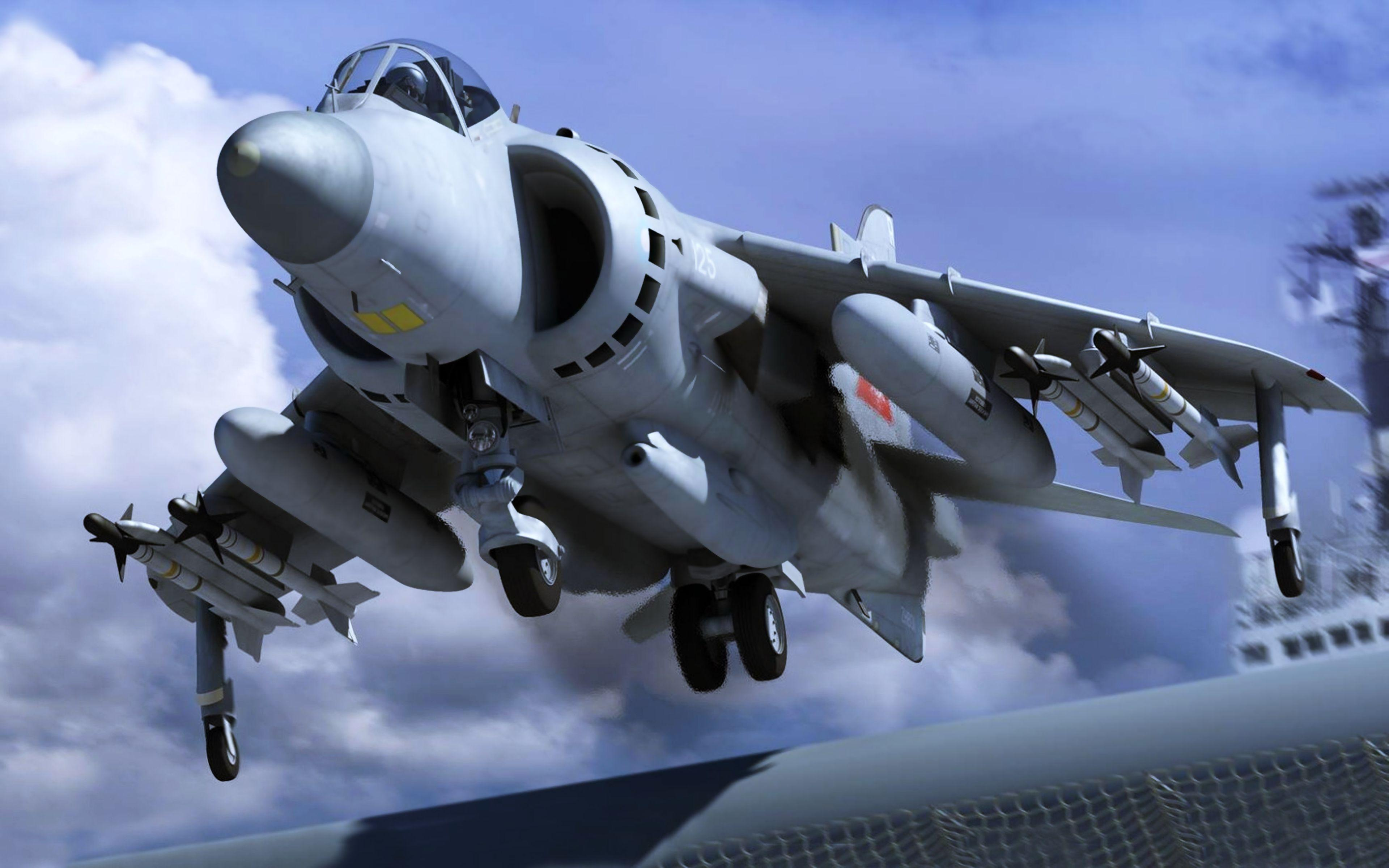Sea Harrier FA2 British 4k Ultra HD Wallpaper and Background Image ...
