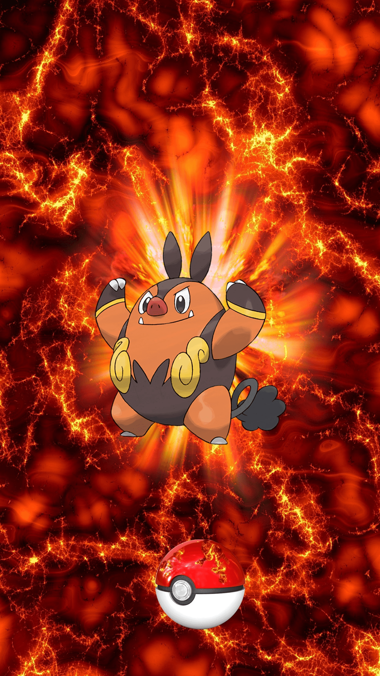 499 Fire Pokeball Pignite Chaoboo 68 Tepig | Wallpaper