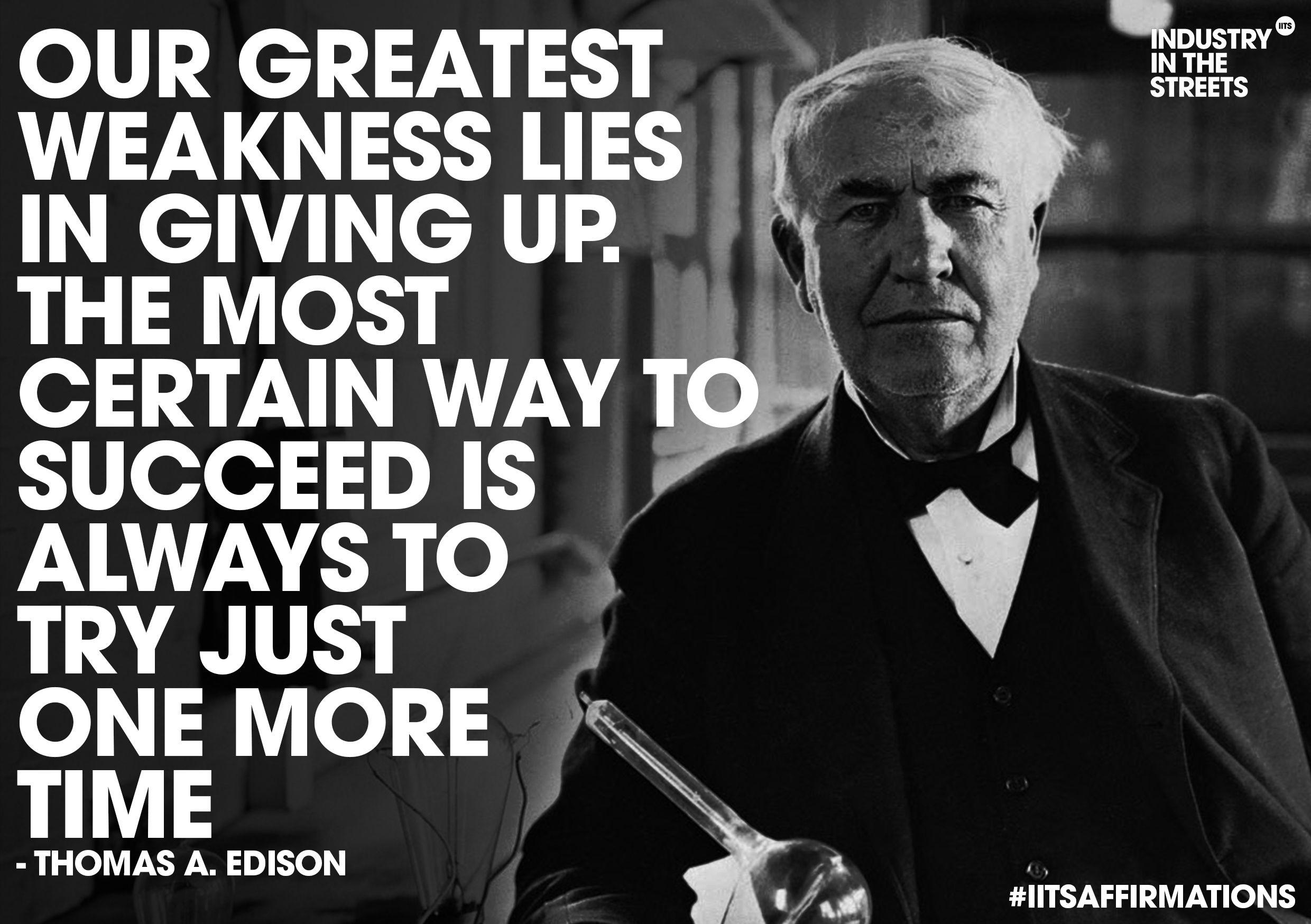 Motivational Words For Students In Thomas Edison