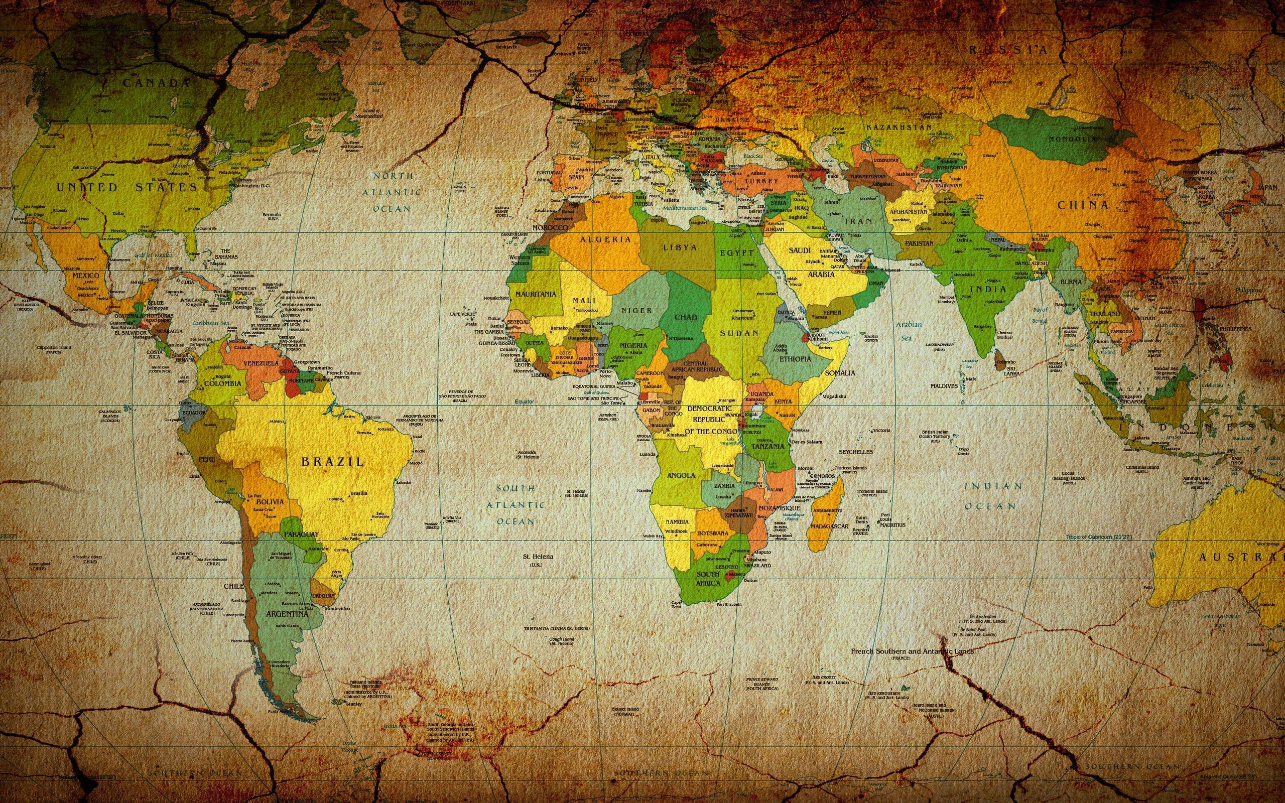 Full Map Of The World.World Map Wallpapers High Resolution Wallpaper Cave