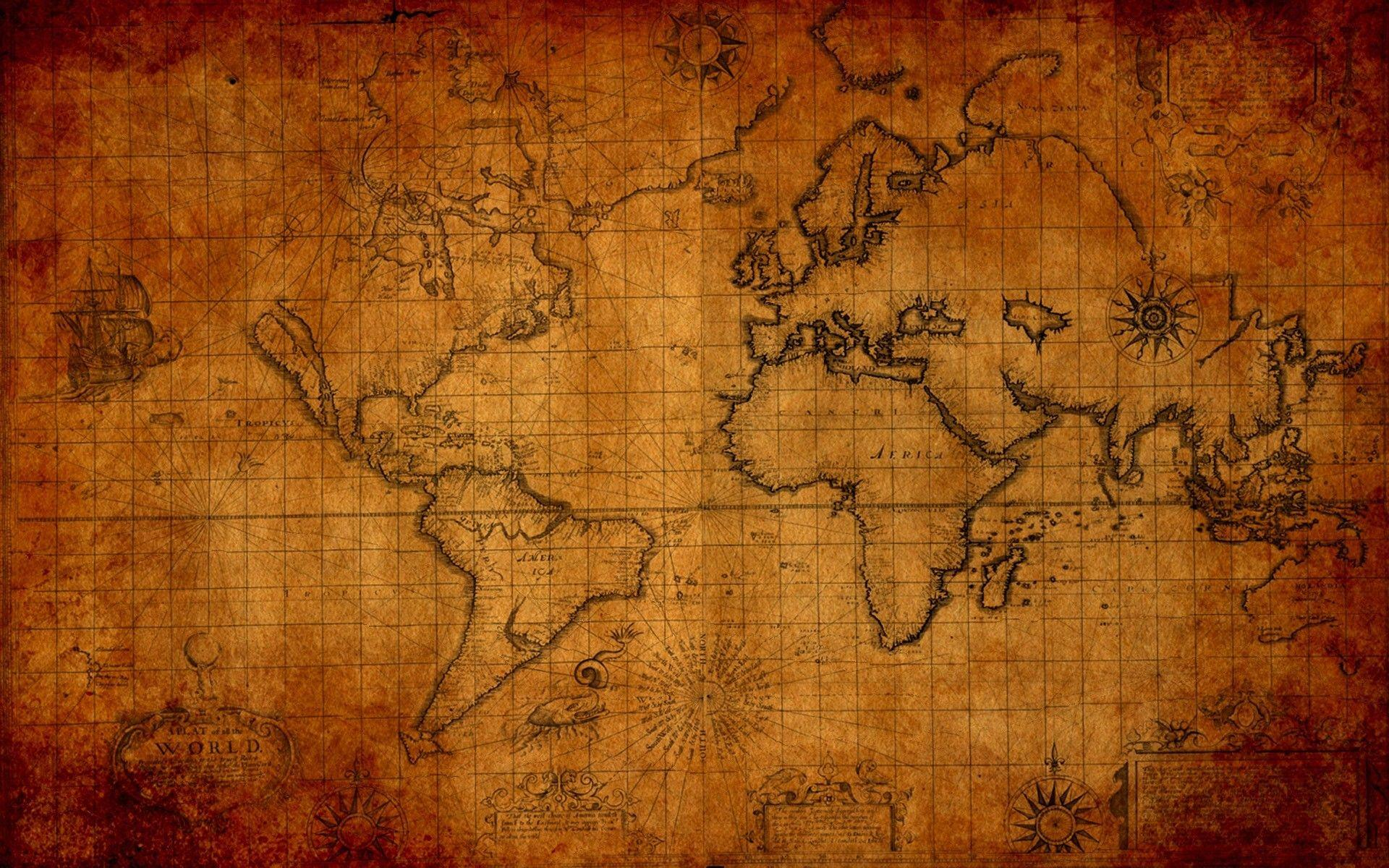 Hd World Map Wallpapers Wallpaper Cave