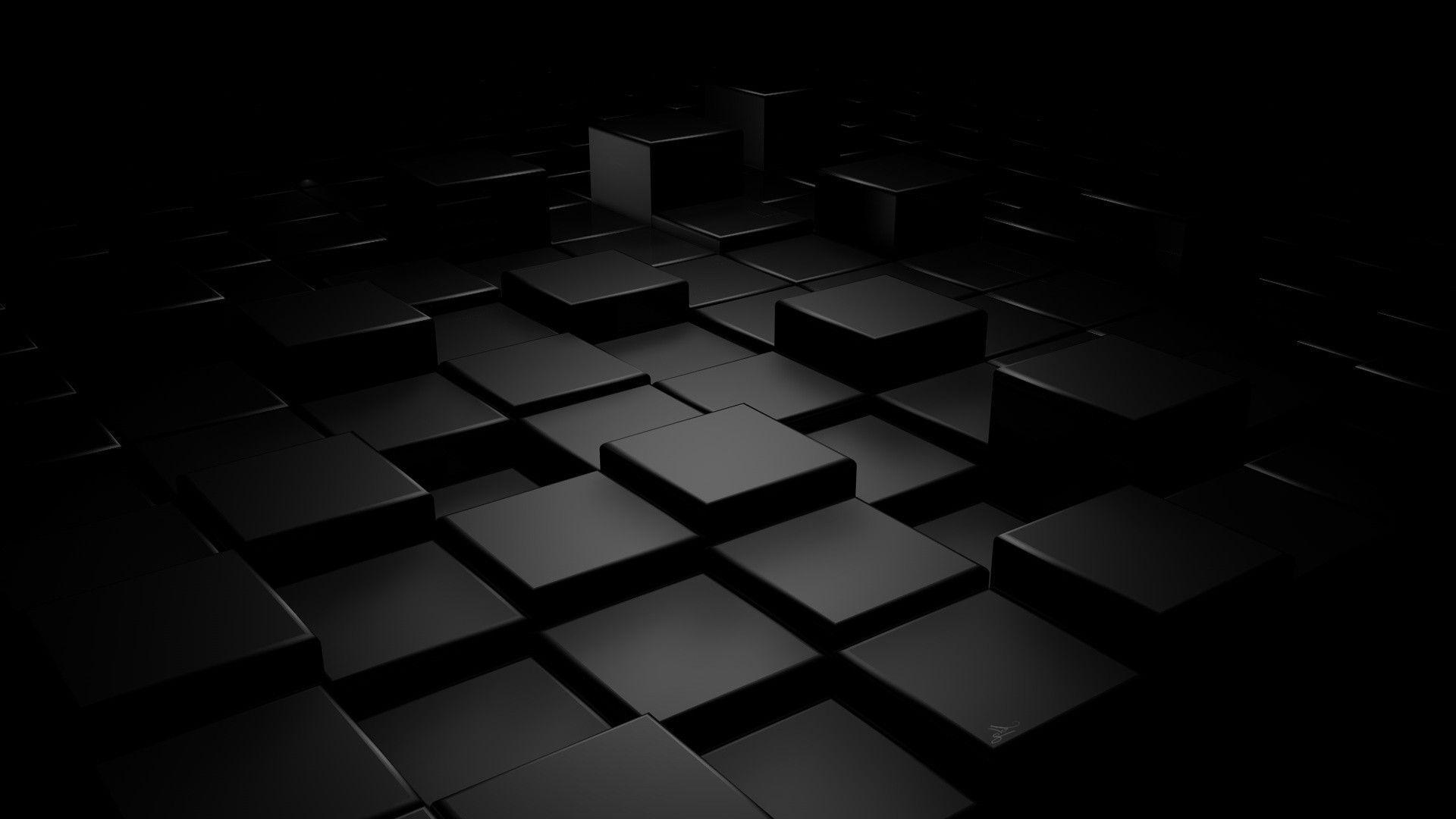 Black 3d Wallpaper 4k
