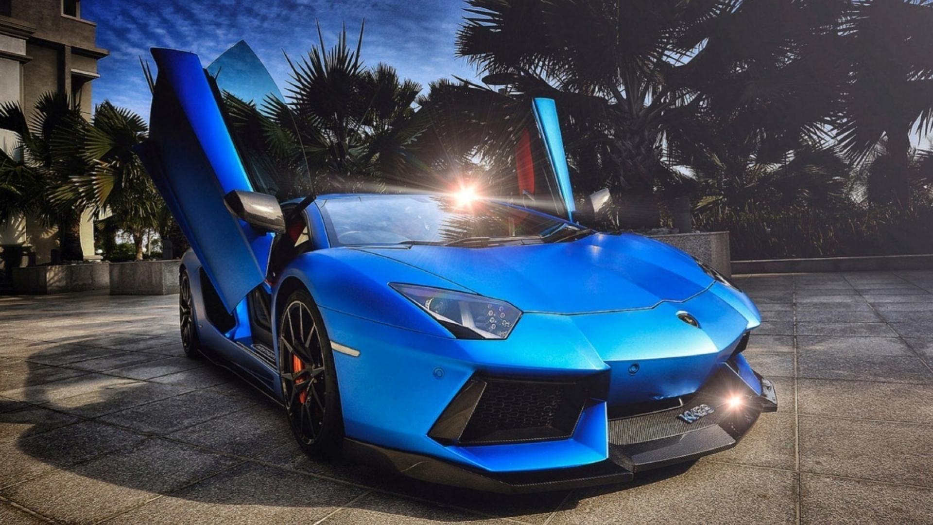 Lamborghini Blue Wallpapers Wallpaper Cave