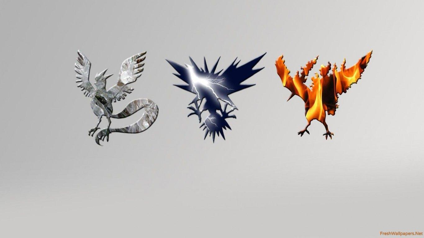 Articuno, Zapdos and Moltres - Pokemon wallpapers | Freshwallpapers