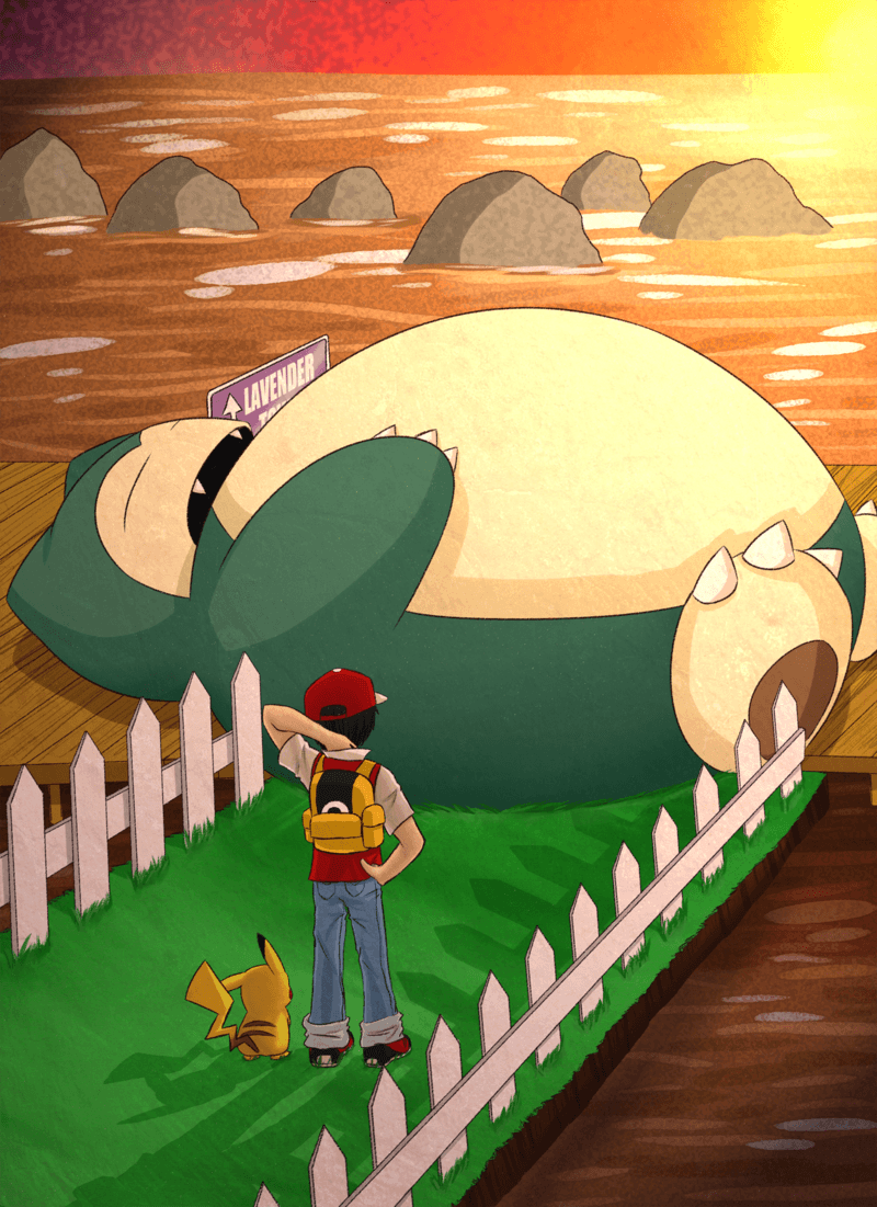A Sleeping Snorlax Blocks The Path Wallpaper Free » Gamers ...