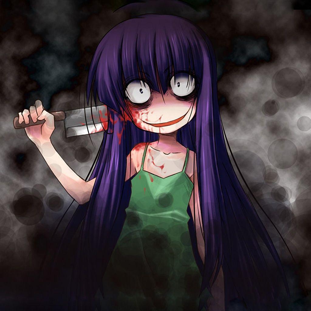 girl Scary face anime