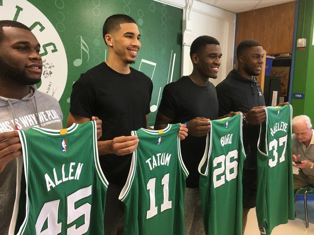 Isaiah Thomas welcomes Jayson Tatum, Semi Ojeleye to Boston