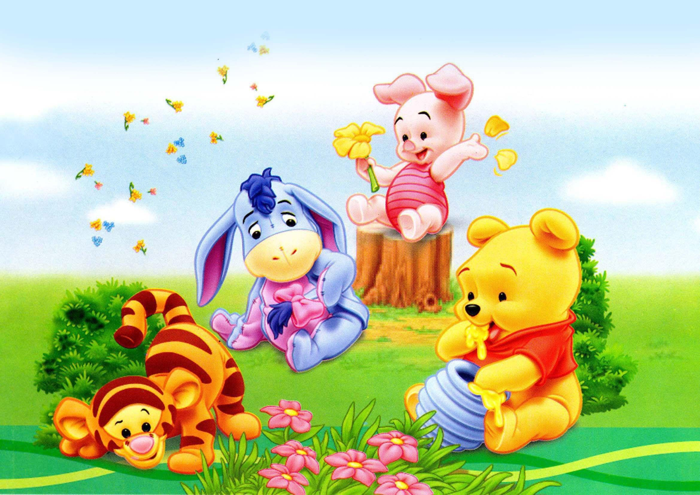 This is a graphic of Wild Winnie the Pooh as a Baby