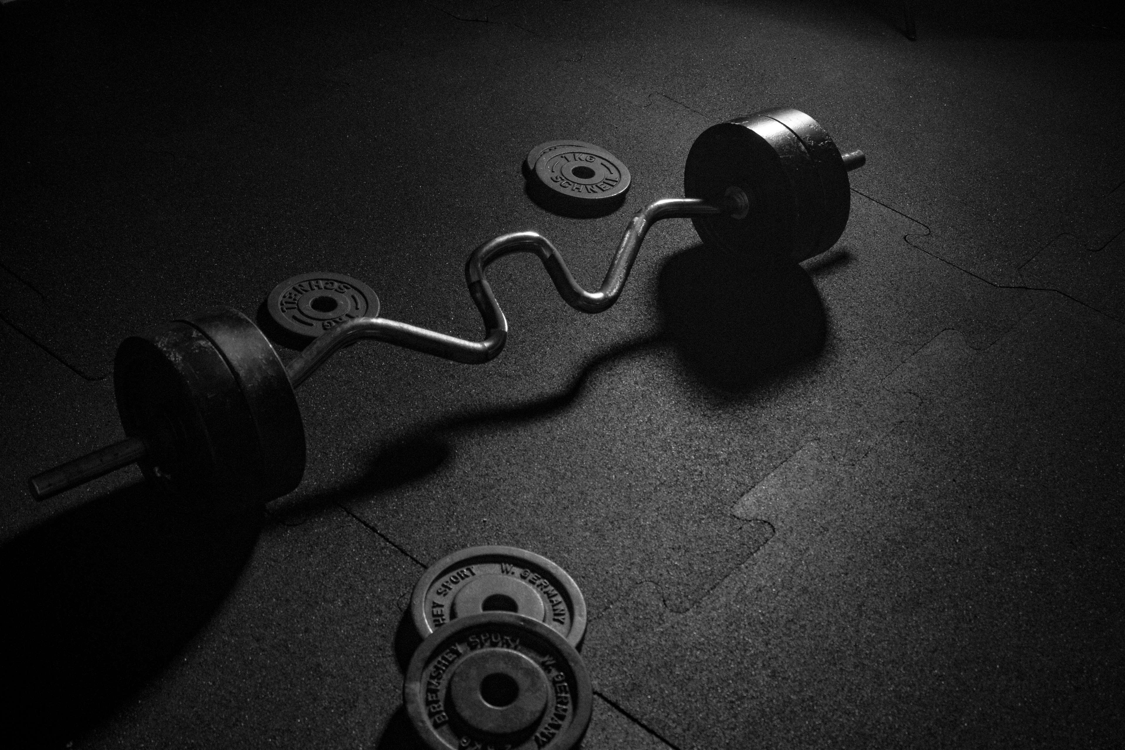 barbell, black, body builder, dumbbell, fitness equipment, fitness ...
