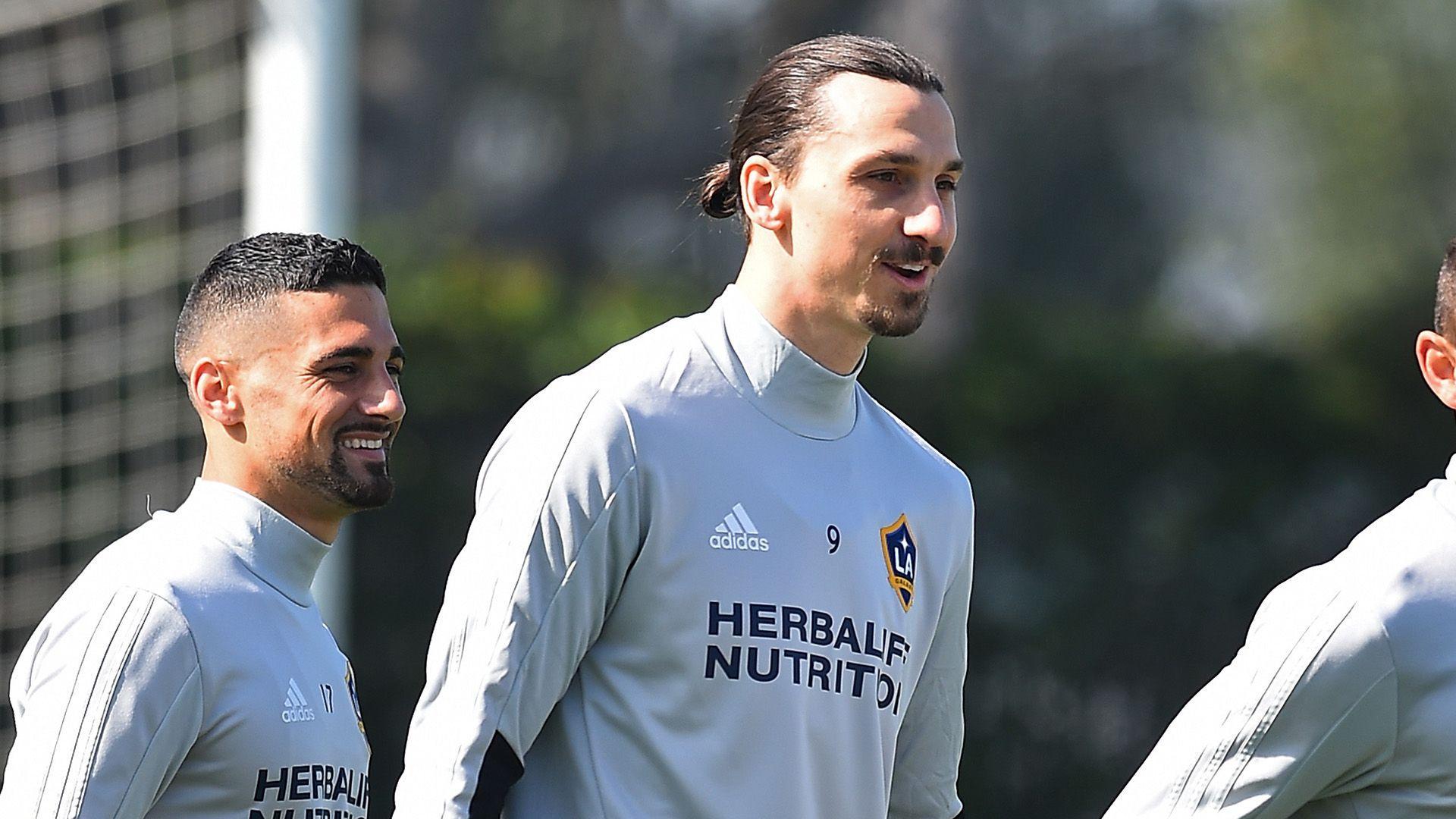 4271d182d9f Zlatan Ibrahimovic on LA Galaxy bench for MLS debut   Goal.com