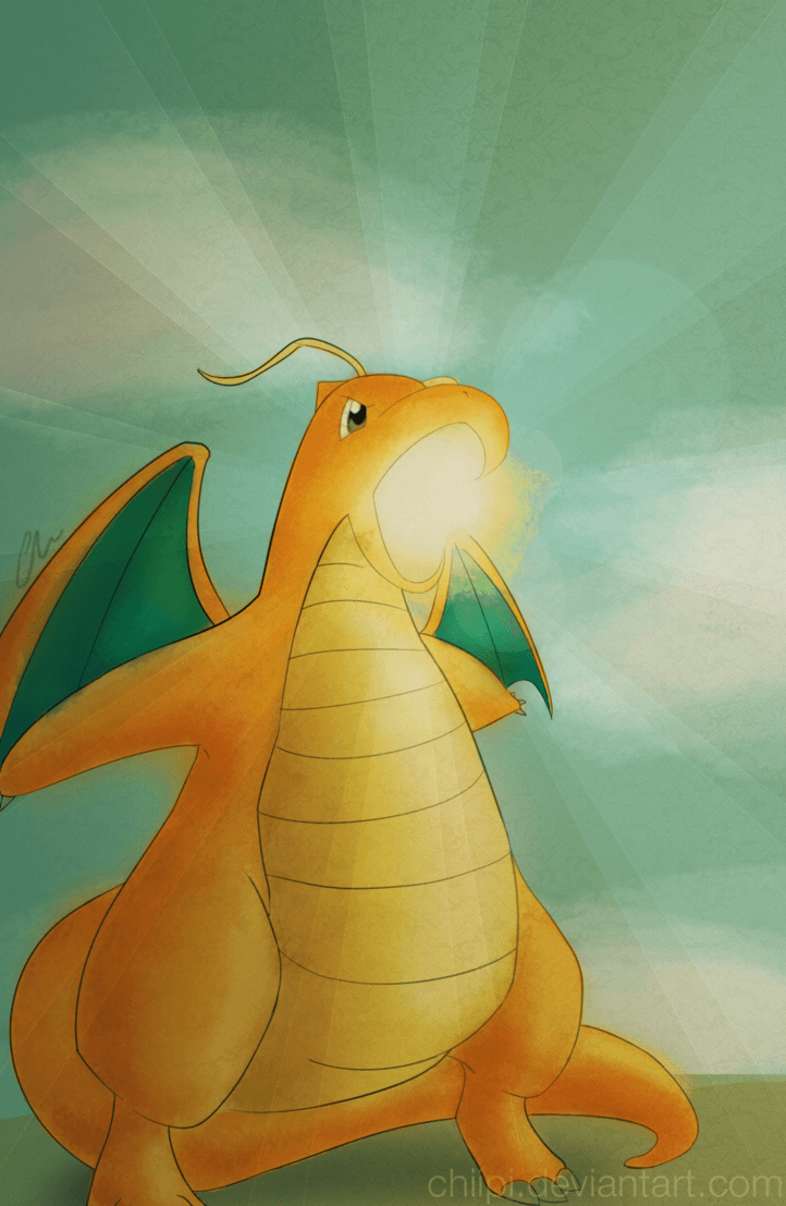Dragonite's Hyper Beam by chiipi on DeviantArt