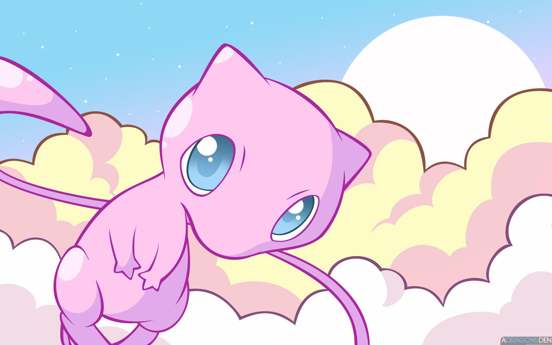 Mew the Pokemon image Mew in the Clouds HD wallpapers and