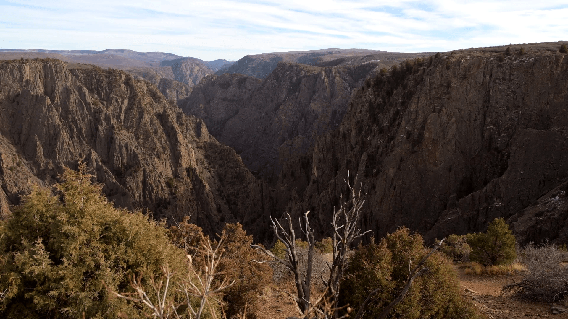 Scenic Black Canyon of the Gunnison National Park in Western
