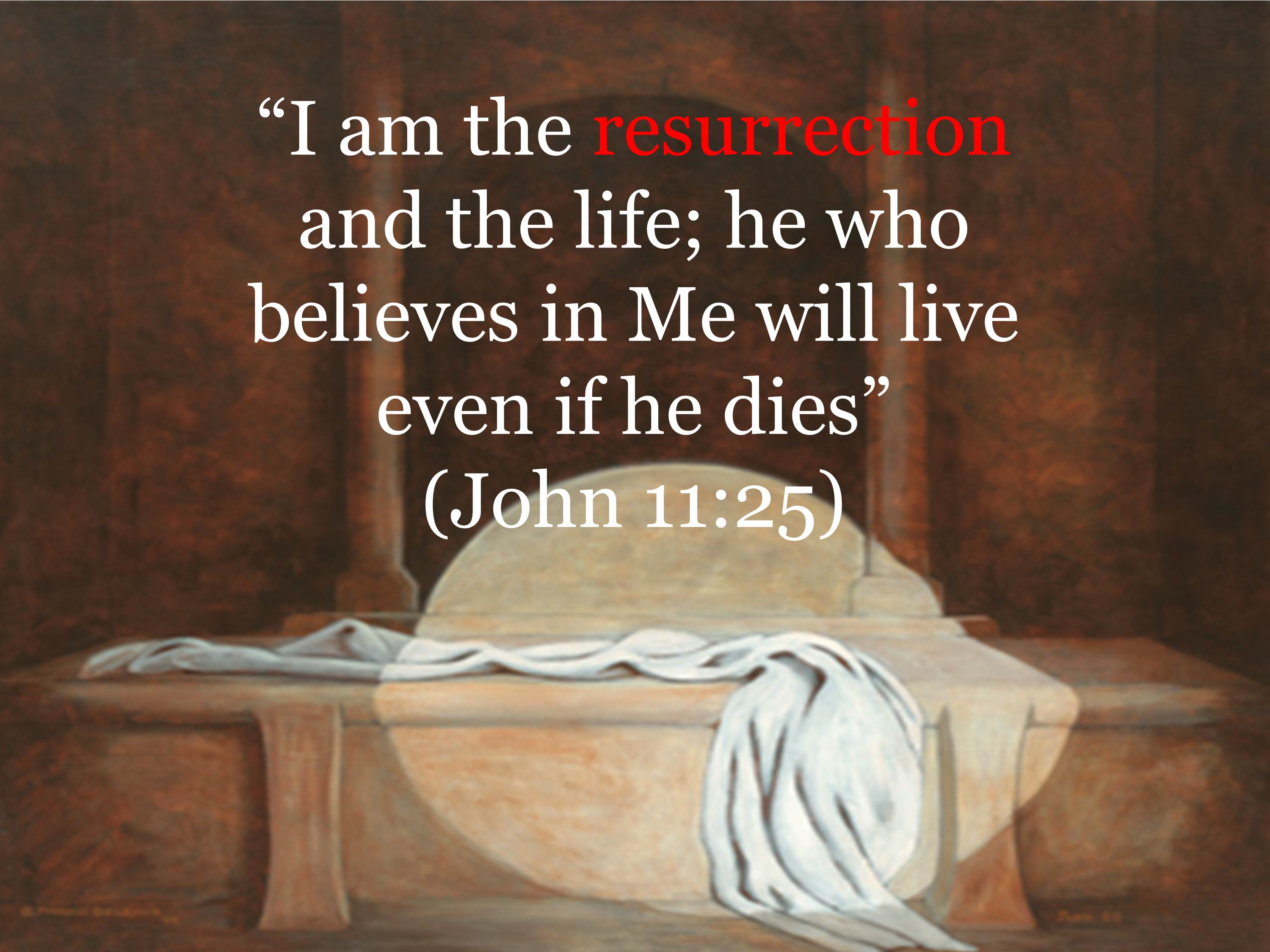 Easter Iam The Resurrection And Life Wallpaper