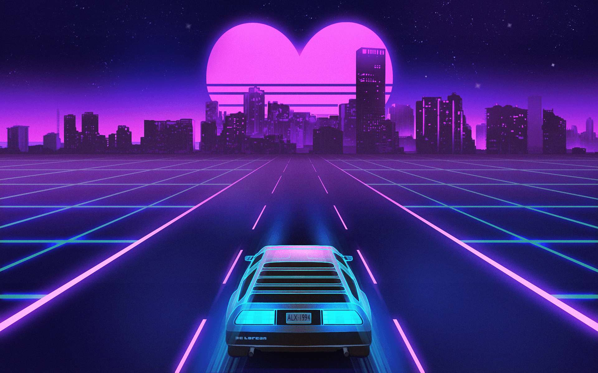 Retro Wave Full HD Wallpapers and Backgrounds Image