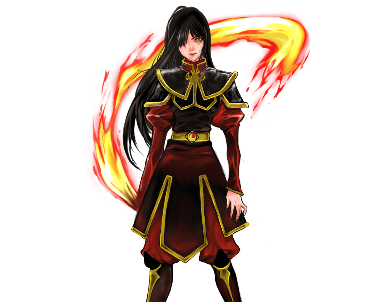 Avatar The Last Airbender Azula Crying Fire Sister White