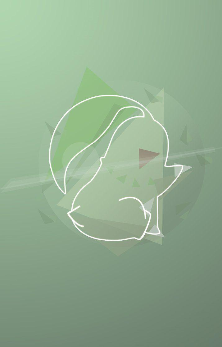 CHIKORITA POKEMON WALLPAPER LOW POLY - ABSTRACT by ibeagra on ...