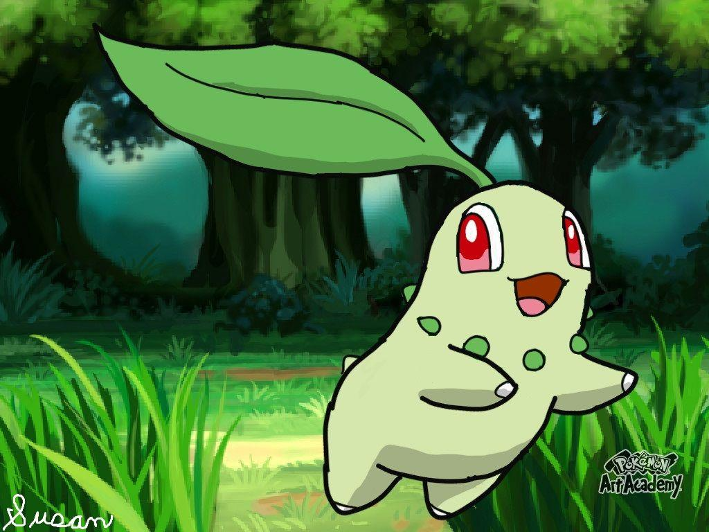 Pokemon Art Academy- Chikorita by SusanLucarioFan16 on DeviantArt
