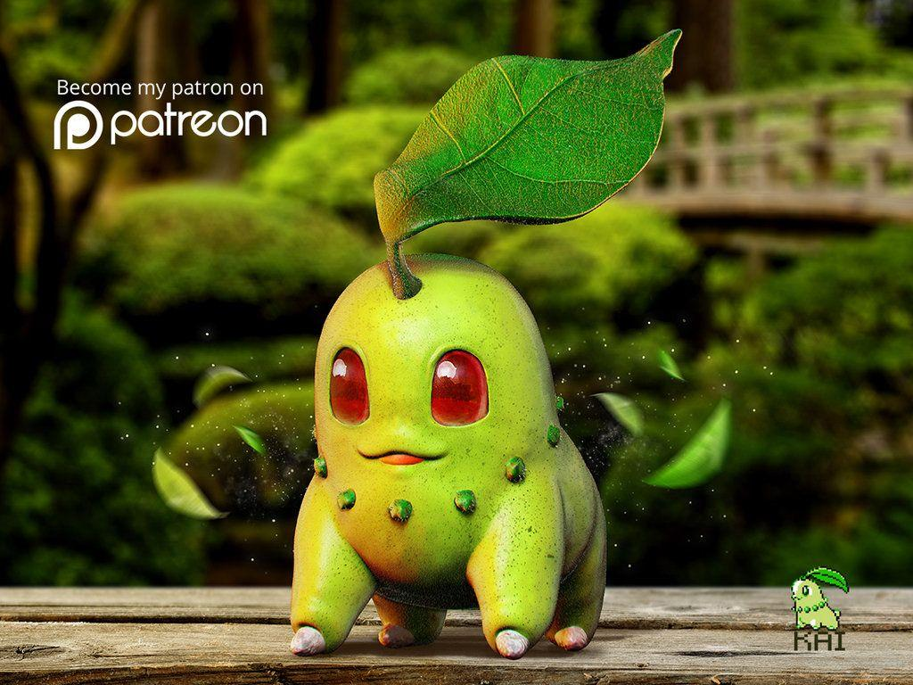 Realistic Pokemon: Chikorita by KaiKiato on DeviantArt