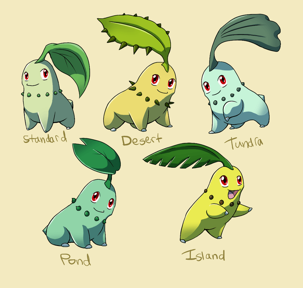 Pokemon Subspecies: Chikorita by CoolPikachu29 on DeviantArt