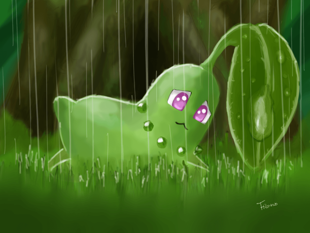 Wild Chikorita by DarkKodKod on DeviantArt