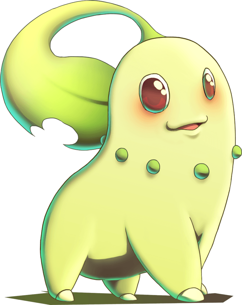 Chikorita from Pokemon Gold and Silver by MatsuoAmon on DeviantArt