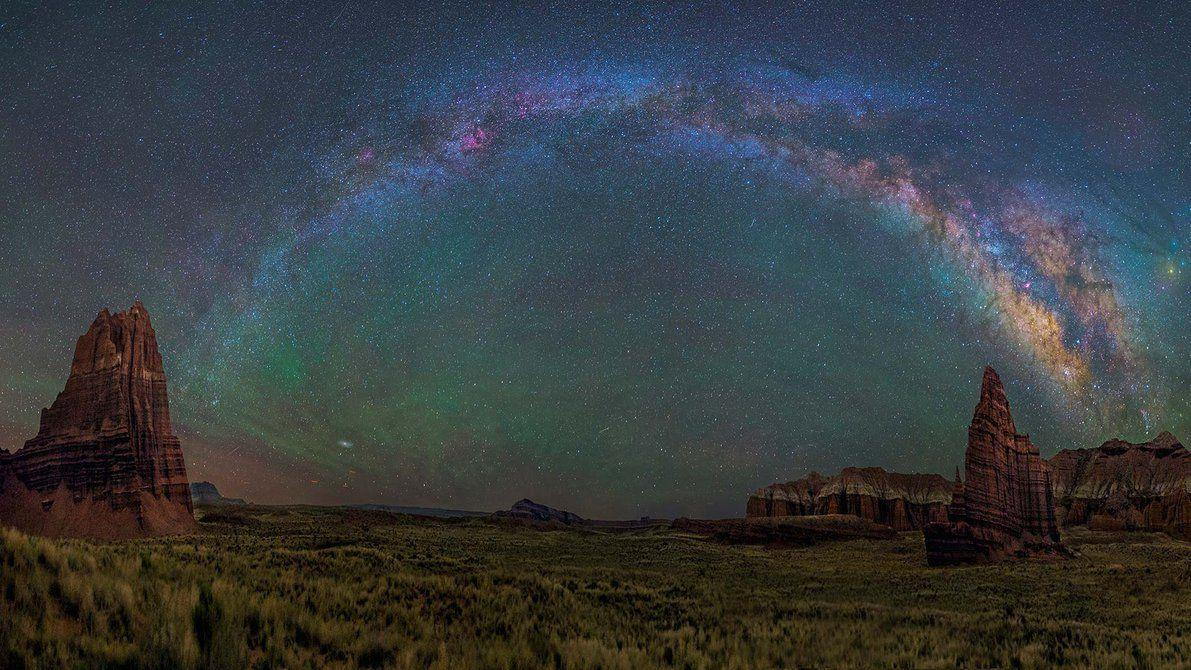 The Milky Way over Capitol Reef National Park by BalochDesign on