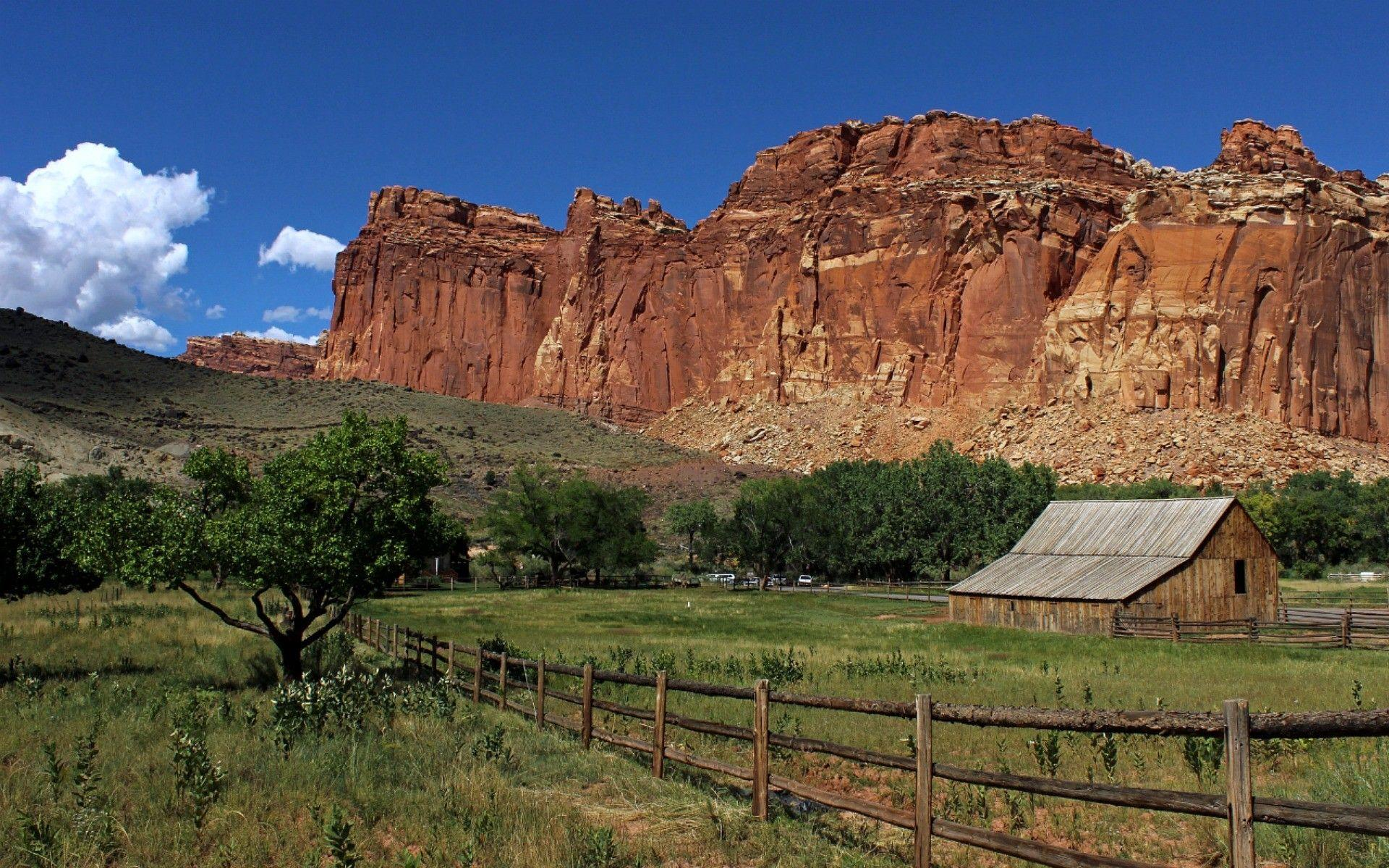Mountains: Park Reef Capital Fence Nature Canyons Barn Capitol