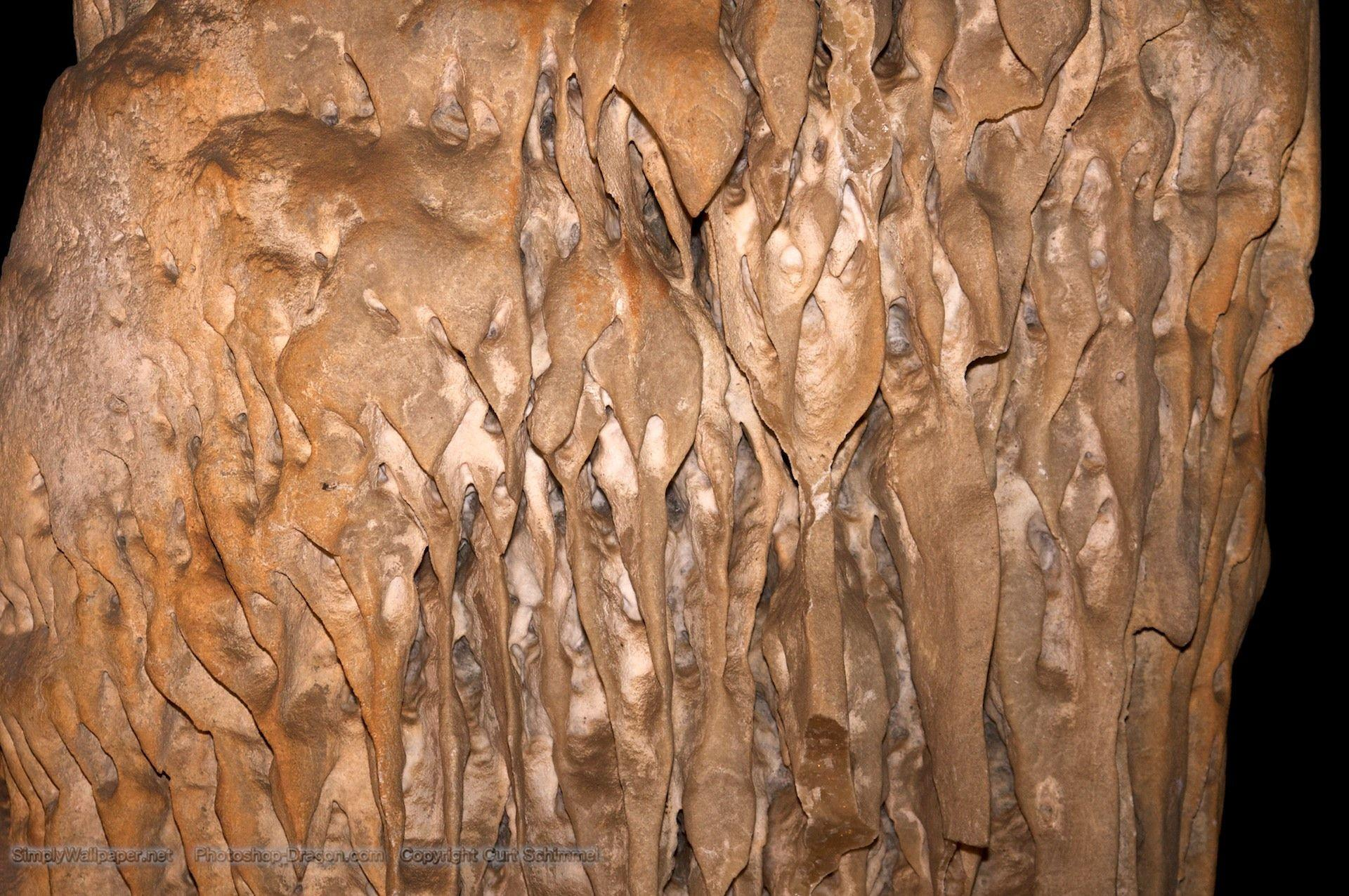Formations on a Column at Carlsbad Caverns Desktop Wallpapers