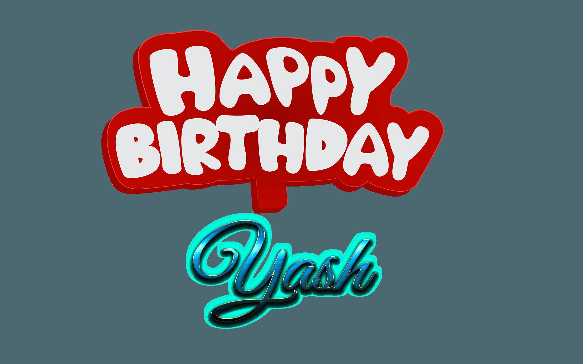 Yash Happy Birthday Name Logo   PNG Names