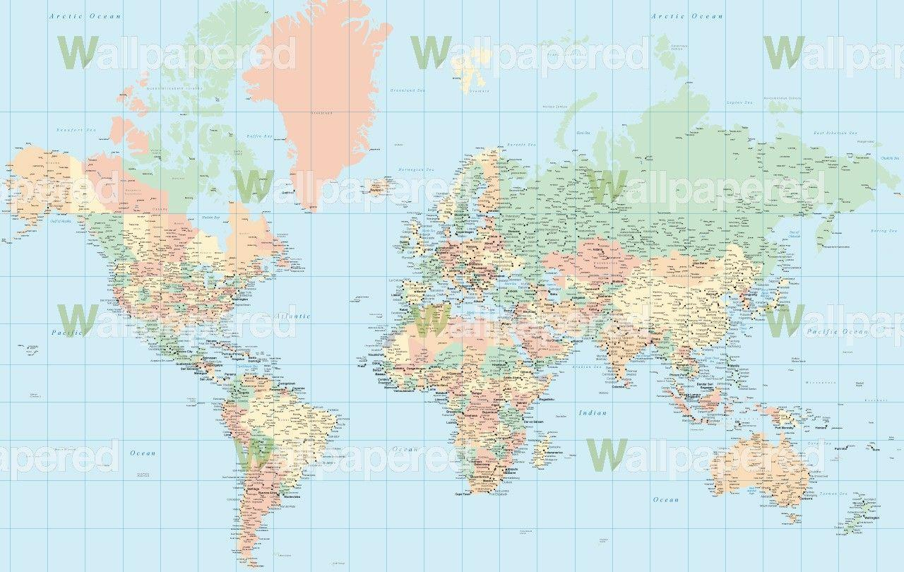 World map wallpapers high resolution wallpaper cave pastel world map wallpaper world map mural gumiabroncs Image collections