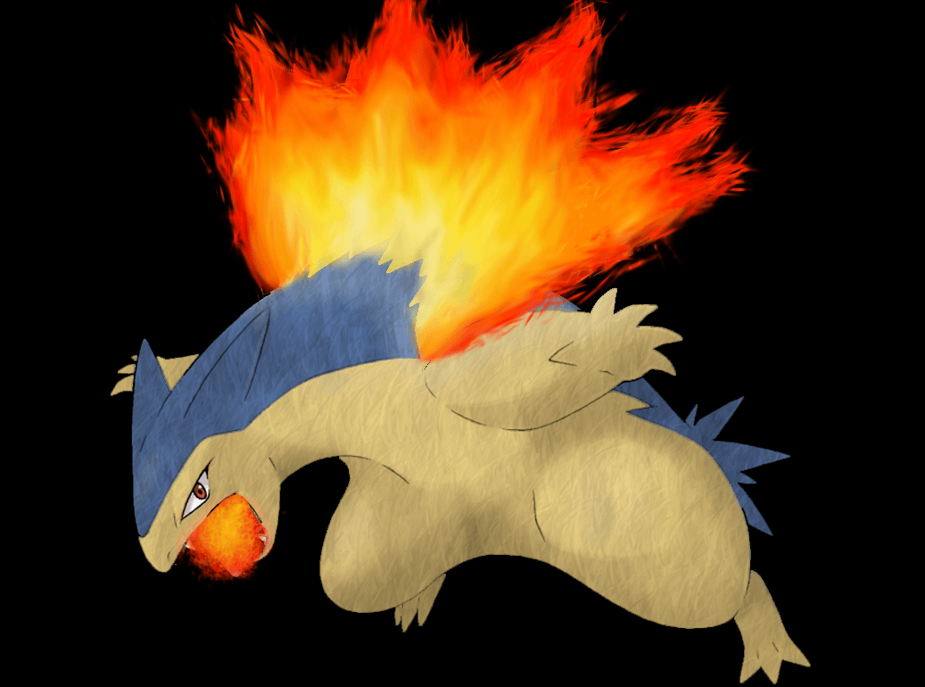 Typhlosion Wallpaper 02 - Detail by Ymeisnot on DeviantArt