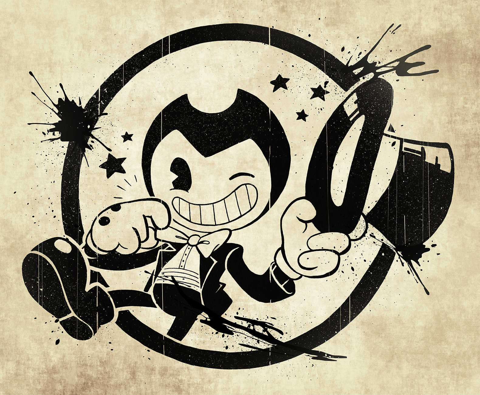 Bendy And The Ink Machine Logo Wallpapers Wallpaper Cave
